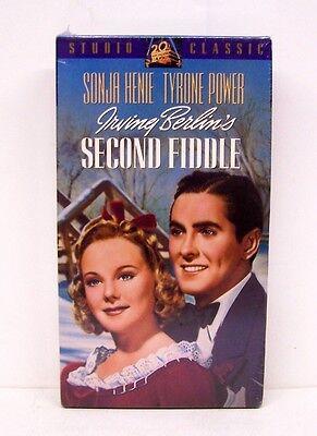 SECOND FIDDLE,  SONJA HENIE,  TYRONE POWER,  VERY RARE VHS,  BRAND NEW,  NO DVD