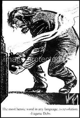 Anarchist Eugene Debs Anarchy Revolution Poster -24x36