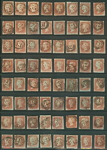 GREAT-BRITAIN-3-Group-of-128-One-Penny-w-NUMERAL-CXLS