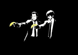 Poster-Print-Banksy-Pulp-Fiction-DISCOUNTED-OFFERS-A3-A4