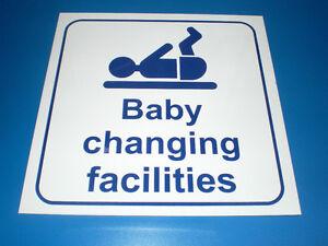 BABY-CHANGING-FACILITIES-plastic-TOILET-DOOR-sign-150-x-150-FREE-POST