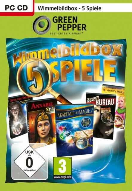 Wimmelbildbox - 5 Spiele (PC, 2011, DVD-Box)