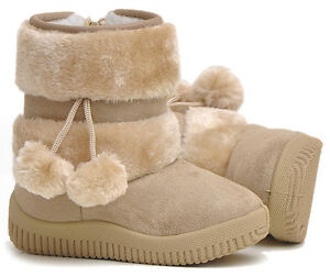 New-HM-AE-Fashion-Children-Girls-Boys-Winter-Warm-Snow-Boots-Shoes-With-Zipper