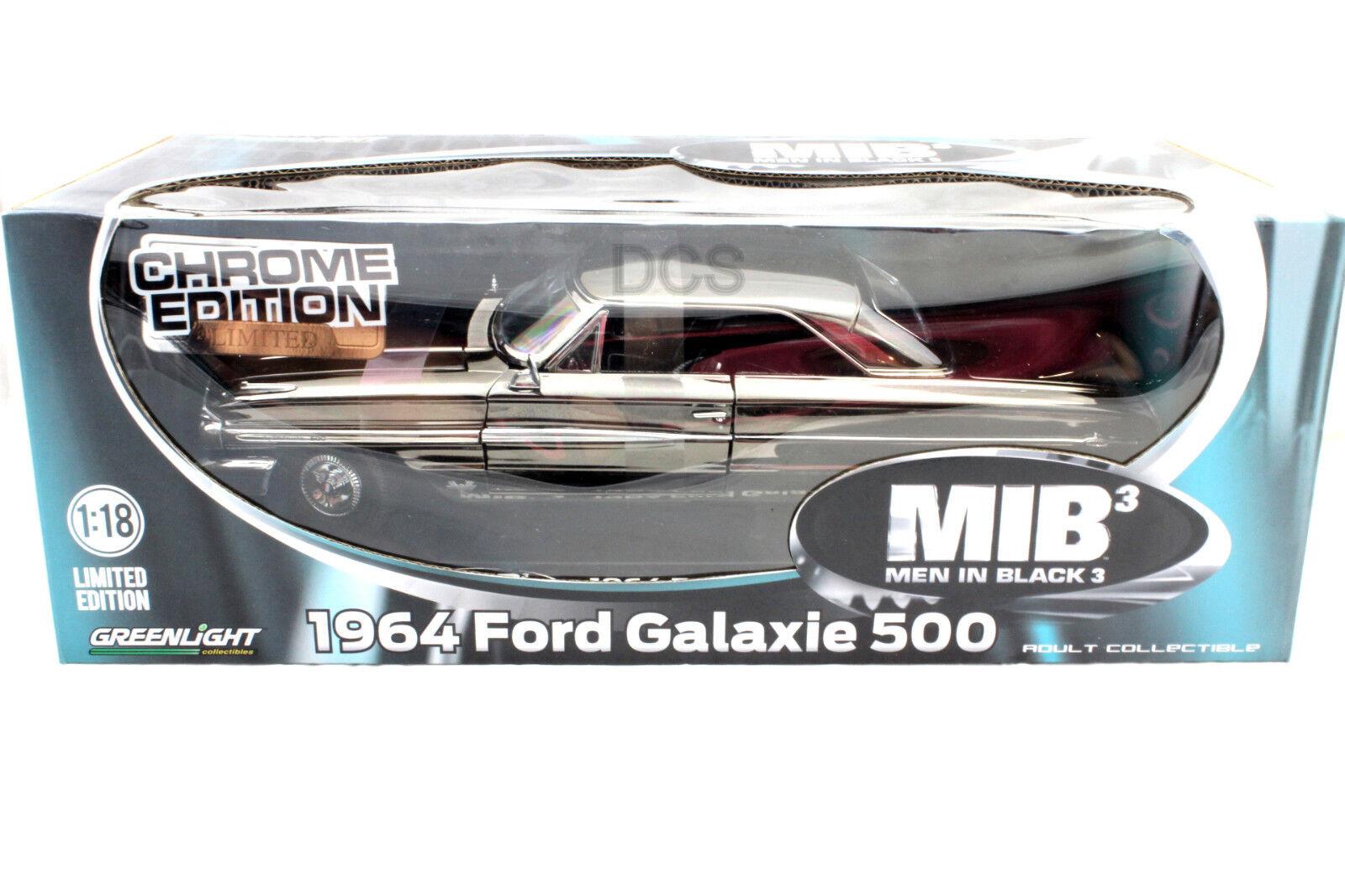 los clientes primero 1964 Ford Galaxie 500 MIB     para Hombre en Negro 7.6cm Película Cromo 1 18 Luz  ventas en linea
