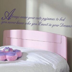 Cute-Pyjamas-Bedroom-Quote-Vinyl-Wall-Sticker-Bedroom-Art-Wall-Decals-niq44