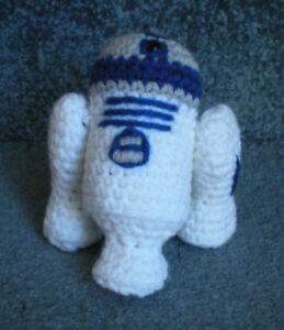Amigurumi-Hand-Crocheted-Star-Wars-R2-D2-5-034-Doll-NEW