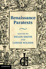 Renaissance Paratexts by Cambridge University Press (Hardback, 2011)