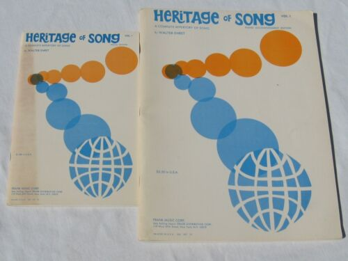 Heritage of Song Vol 1 Piano and Vocal Song Books 1966