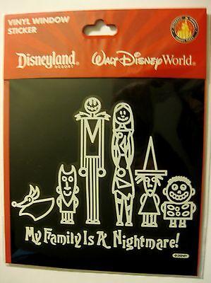 Disney Nightmare Before Christmas Jack Skellington Sally Zero Vinyl Window Cling