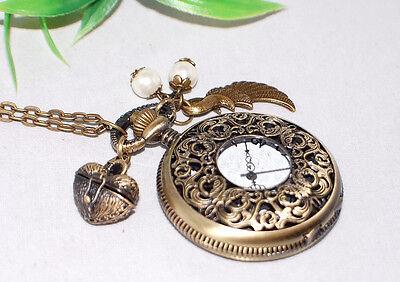 KETTENUHR +++ AUSWAHL +++ Kette bronze Anhänger Uhr Halskette pocket watch