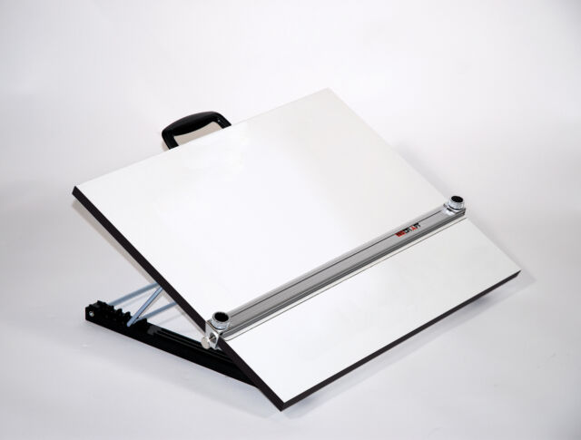 Adjustable Angle Portable Drafting Table with Straightedge | Drawing Board Desk