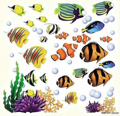CC Sea World Tropical Fish & Coral Reef Kids Room Wall Art Sticker Decals