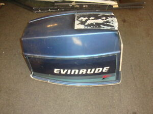 Evinrude vro 70 hp hood cowl cowling cover sn g153483 mn for 70 hp evinrude outboard motor for sale