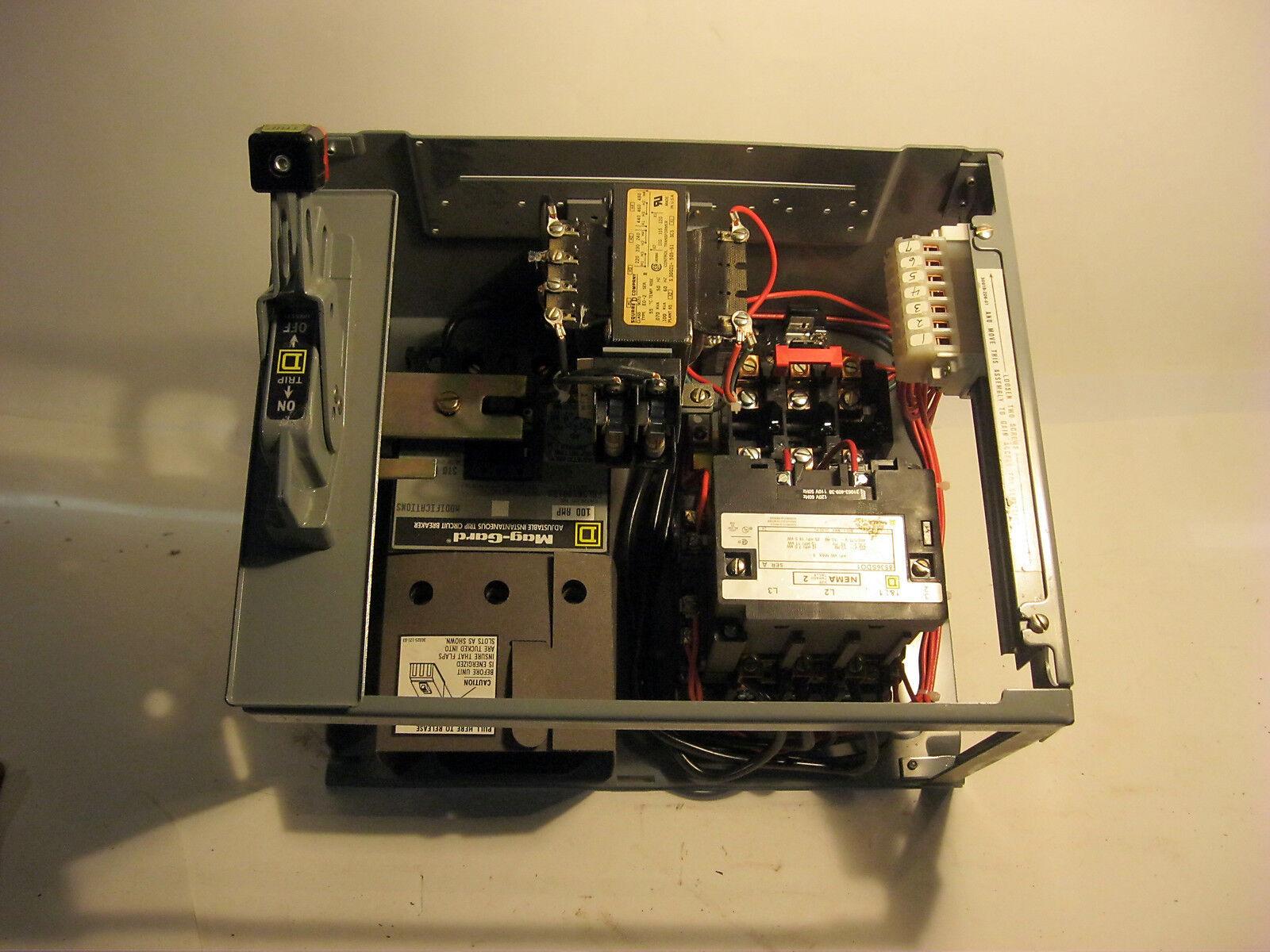 Square Square Square D Controlador De Motor Unidad e-659652 ed404 100 Amp Viaje Caja instantánea 46f4ba
