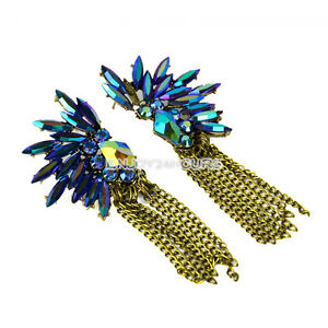 Vintage-Colorful-Crystal-Chief-Of-Tribe-Chains-Tassel-Ear-Stud-Earrings-EN24H