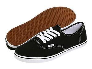 Women-Vans-Authentic-Lo-Pro-Canvas-Black-White-100-Original-Brand-New