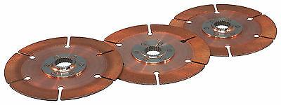 "Tilton 7.25""(184mm) Triple Clutch Plate Kit  1 ""x23 spline Ford/MGB/Porsche"