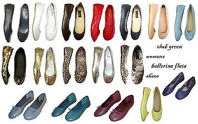 New Womens Ballerina Ballet Flats Shoes Leopard & Solids