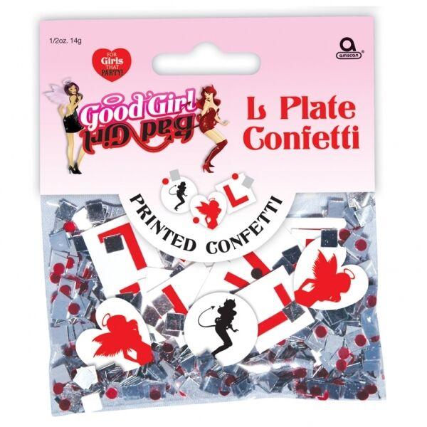 L PLATE Hen Party Wedding Confetti Table Decoration