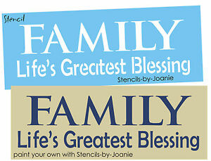 Primitive Stencil Family Life Greatest Blessing Shabby Cottage Signs U Paint Ebay