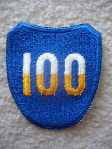 1950-039-s-US-Army-100th-Infantry-Division-cut-edge-patch