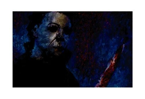 Halloween Michael Myers Painting Movie Art Poster