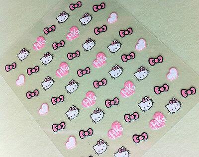 Nail Art 3D Sticker Glitter Decal Hello Kitty 54 pcs ON SALE!!
