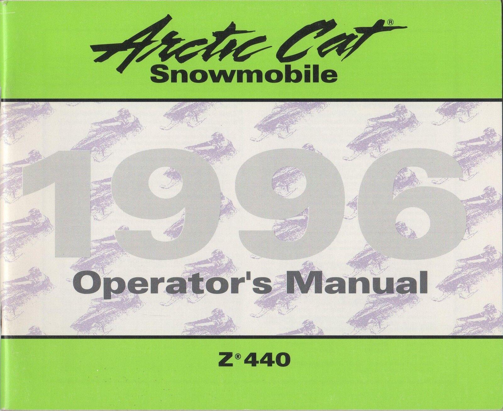 1996 ARCTIC CAT SNOWMOBILE Z 440 OPERATOR  MANUAL