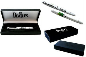 The-Beatles-Apple-Logo-Ceramic-Pen-Gift-Set-In-Lined-Box-New-Official