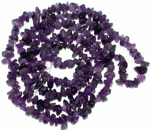 1-Strand-Natural-35-039-L-Amethyst-Quartz-Crystal-Chips-Gemstone-Beads