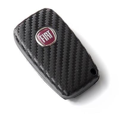 Fiat Bravo Grande Punto Stilo Abarth carbon fiber style key sticker