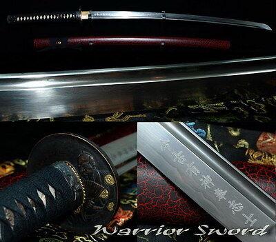 Sharp Folded Steel Japanese Samurai Sword Katana Handmade 12 process #504