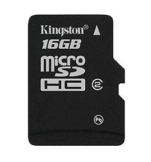 Professional Kingston 16GB MicroSDHC Card for Sony ST21a2 Smartphone with custom formatting and Standard SD Acapter. Class 4