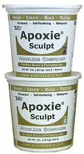 Apoxie Sculpt two-part epoxy multiuse modeling clay self-hardening 4 lb.Orange