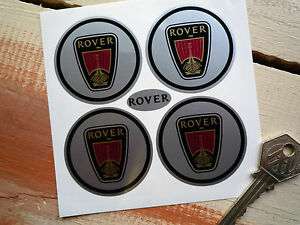 ROVER-Wheel-Centre-Style-Stickers-50mm-Set-of-4-Vitesse-SD1-P5-P6-2000-TC-Viking