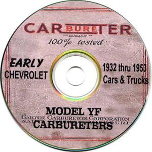 1932 thru 53 Chevrolet Carter YF Carburators - 14 Manuals