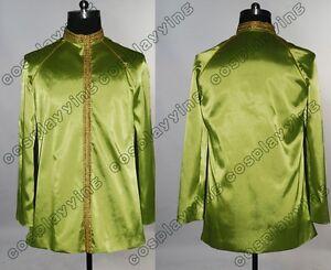 Star-Trek-Jame-Kirk-Green-Satin-Jacket-Halloween-Cosplay-Costume-Uniform-Outfit