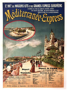 Travel-Decor-Poster-Mediterranean-Express-Fine-Graphic-Art-Design-1528