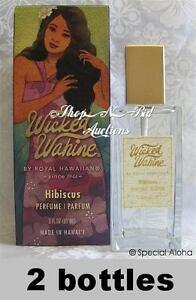 WICKED-WAHINE-HIBISCUS-PERFUME-By-ROYAL-HAWAIIAN-Hawaii-3oz-New-2Bottles-Fresh