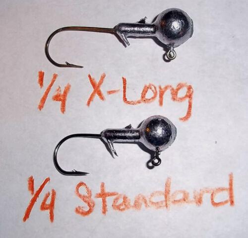 1//8,3//16,1//4 #2 X-Long Eagle Claw Bronze Jighead 100ct...Crappie//Walleye