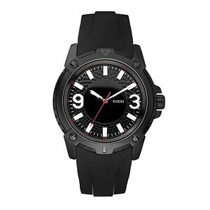 Guess-Verve-Gents-Sports-Watch-50m-Black-Dial-Black-Rubber-Strap-W10251G1