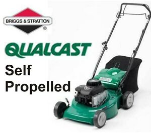 Qualcast-46SP-18-034-Self-Propelled-Petrol-Rotary-Lawn-Mower-Self-Drive-46cm