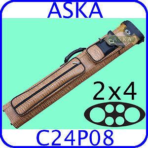 2x4-Pool-Cue-Case-Aska-C24P08-PREMIUM-QUALITY
