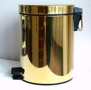 ... Design Badezimmer Abfalleimer Aus Metall 5 Liter Inhalt