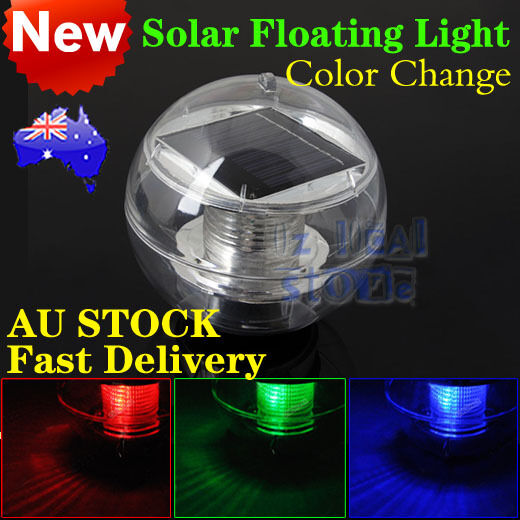 2X LED Solar Floating Light Multi Color Waterproof Pool Tree Hang Spa Ball Lamp