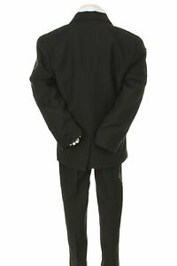 428b3bb4354e Baby Boys Formal Party Black 7-pc Suit Set Silver Vest Tie Outfits ...