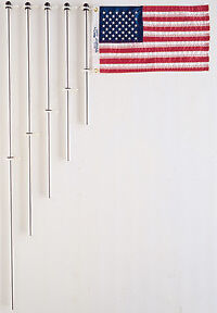 """FLAG POLE ALUMINUM WITH CHARLEVIOX CLIPS 48"""" TAYORMADE 32-919 FLAG NOT INCLUDED"""