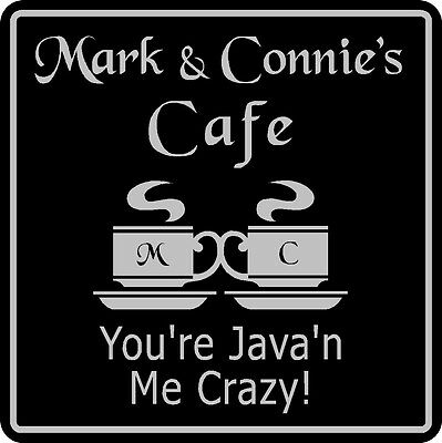 New Personalized Custom Name Coffee Cafe Java Kitchen Restaurant Sign # 2