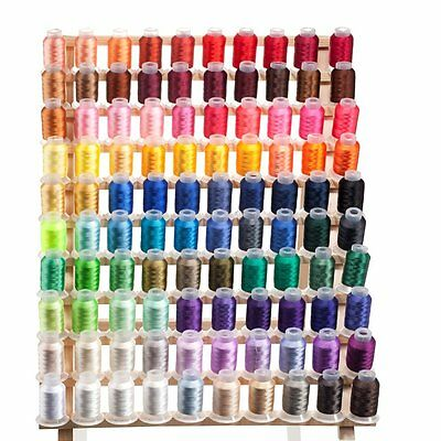 100 Spools 40 weight Polyester Embroidery Machine Thread - HIGH QUALITY