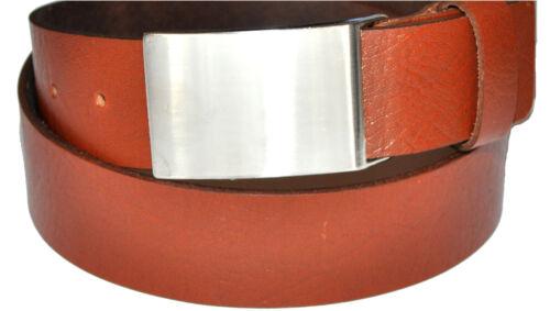 Farben und Länge wählbar 4cm Breit Voll Leder Guertel Koppel Schnalle